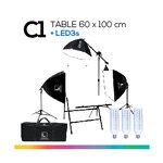 C1 TABLE 60x100 โต๊ะถ่ายภาพสินค้าพับได้