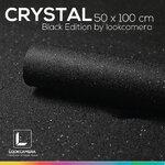 CRYSTAL BLACK EDITION แผ่นฉากหลังคริสตัลสีดำ ขนาด 50x100 ซม
