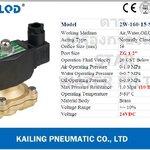 Solenoid Valve ทองเหลือง,คอยล์กันน้ำ 1/2 นิ้ว (4 หุน) 24VDC (NC) KLOD