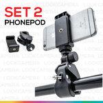Phonepod (Set2) ตัวหนีบจับกล้องมือถือพร้อมตัวจับ สำหรับถ่ายภาพ topview และ อื่นๆ