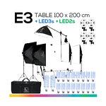 E3 TABLE 100x200 โต๊ะถ่ายภาพสินค้าปรับองศาได้ ถอดประกอบได้