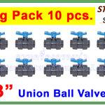 """ยูเนี่ยนบอลวาล์ว พีวีซี PVC true union ball valve 3"""" (Star) (ID:89 mm) ยกแพ๊ค 10 pcs."""