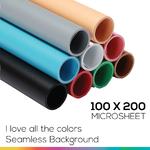 Microsheet 9 colors ( I love all the colors ) แผ่นไมโครชีท 9 สีขนาด 100x200 ซม