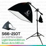 2in1 SOFTBOX 210T ซอฟบ๊อกซ์ถ่ายสินค้า ขนาด 60x60