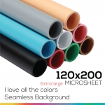 Microsheet 9 colors ( I love all the colors ) แผ่นไมโครชีท 9 สีขนาด 120x200 ซม