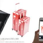 Review รีวิวถ่ายสินค้า กระเป๋าเดินทาง ด้วยชุดถ่ายภาพสินค้า M3 Lookcamera 230x300 ซม