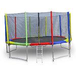 สปริงบอร์ดแทรมโพลีน trampoline ขนาด 14 ฟุต สีรุ้ง ขนาดใหญ่ รับน้ำหนักได้ถึง 180 kg.