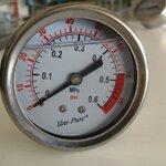 Pressure Guage เกจ์วัดแรงดัน 0-80 PSI Stainless