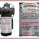ปั๊มไดอะแฟรม Diaphragm (จ่ายน้ำ) Headon 3GPM (11L/M) Taiwan