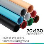 Microsheet 9 colors ( I love all the colors ) แผ่นไมโครชีท 9 สีขนาด 70x130 ซม