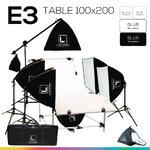 E3 STUDIO TABLE PACKSHOT โต๊ะถ่ายภาพสินค้าปรับองศา 100x200 ซม.