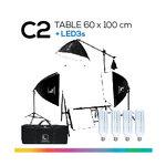 C2 TABLE 60x100 โต๊ะถ่ายภาพสินค้าพับได้
