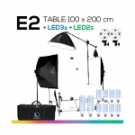 E2 TABLE 100x200 โต๊ะถ่ายภาพสินค้าปรับองศาได้ ถอดประกอบได้