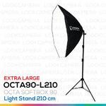 OCTA90 SOFTBOX L210 ขนาด 90 ซม. ชุดโคมไฟแปดเหลี่ยมถ่ายภาพสินค้า