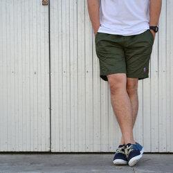 กางเกงขาสั้น BFactory (สีเขียวขี้ม้า) - ไซส์ S, M, L, XL, XXL