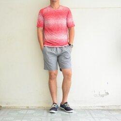 เสื้อยืด เสื้อกีฬา Micro - สีแดง