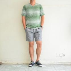 เสื้อยืด เสื้อกีฬา Micro - สีเขียว