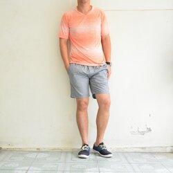 เสื้อยืด เสื้อกีฬา Micro - สีส้ม