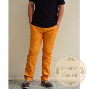 กางเกงขายาว ขากระบอก สีเหลือง