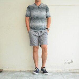 เสื้อยืด เสื้อกีฬา Micro - สีเทา