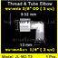 ข้องอ (1/4MIP X 3/8OD) Plastic + ฝาเกลียวหมุนล๊อกท่อ