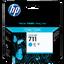 HP 711 29-ml ตลับหมึกอิงค์เจ็ท สีฟ้า Cyan Original Ink Cartridge (CZ130A)