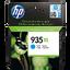 HP 935XL ตลับหมึกอิงค์เจ็ท สีฟ้า High Yield Cyan Original Ink Cartridge (C2P24AA)