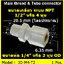 ข้อต่อตรง (1/2MIP x 1/4OD) Plastic + ฝาเกลียวหมุนล๊อกท่อ