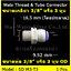 ข้อต่อตรง (3/8MIP X 3/8OD) Plastic สวมเร็ว Speed Fit