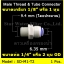ข้อต่อตรง (1/8MIP x 1/4OD) Plastic สวมเร็ว Speed Fit