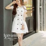 Romantic white ops lace style korea
