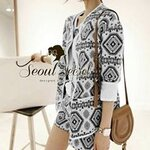 Indian Lady Outer Labricate Texture Gray Scale Set by Seoul Secret