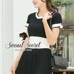 Two Tone Swift Layer Black&White Classic Color Little Bow Ring by Seoul Secret