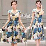 Print dress cute brightly colored long skirts by Aris Code