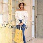 White lace arm blouse