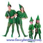 ชุดแฟนซีปีเตอร์แพน Peter Pan (เสื้อ+หมวก+เลกกิ้ง) มี 2 ขนาด 110-135 ซม และ 150-175 ซม. ใส่ได้ทั้งชายและหญิง