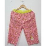 Jp563 กางเกงลำลองเอวยางยืด Disney Fantasy Shop ผ้า cotton สีส้มอมชมพู