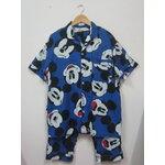 Jp501 ชุดนอนเสื้อกางเกง ผ้า cotton สีน้ำเงินลายมิกกี้ แบรนด์ POPINS ไซค์ M