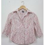 Jp345 เสื้อเชิ้ตลายดอกไม้ โทนชมพู แขนสามส่วน GAP ผ้า cotton ไซค์ XXS รอบอก 30-31 นิ้ว