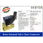 Solenoid Valve ทองเหลือง,คอยล์กันน้ำ 1/2 นิ้ว (4 หุน) 220VAC (Clear) Treatton