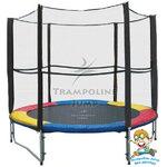 แทรมโพลีน 8 ฟุต สี Colorful สปริงบอร์ด trampoline เครื่องออกกำลังกายเพิ่มความสูง รับน้ำหนักได้ถึง 150 kg