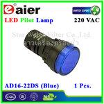 หลอดไฟ Pilot Indicator Lamp LED 220VAC น้ำเงิน