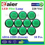 หลอดไฟ Pilot Indicator Lamp LED 220VAC เขียว 10 Pcs.