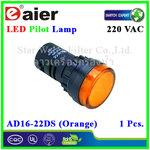 หลอดไฟ Pilot Indicator Lamp LED 220VAC ส้ม