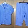 เอว38-42 ชุดนอนคนอ้วน แบรนด์ SECRET TREASURES ชุดนอนผ้าเนื้อนิ่ม เสื้อ+กางเกง สีลายทางฟ้าขาว