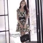 Yellow Rose Dress + ( Belt set ) ** luxury style and premium quality Only @ icevanilla **