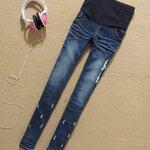 กางเกงคนท้องยีนส์ยืดขายาว ปรับเอวได้ size L, XL, XXL
