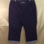 เอว38-40 แบรนด์ JENNIFER LOPEZ กางเกงคนอ้วน กางเกงยีนส์ยืดเนื้อนิ่มมาก ใส่สบายขายาว สีดำเย็บด้ายดำ