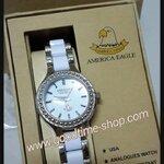 นาฬิกาข้อมือ American Eagle สีขาว กันน้ำ พร้อมกล่อง
