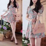 Lady Ribbon's Made Lady Carley Sweet Blooming Bouquest Pastel Dress
